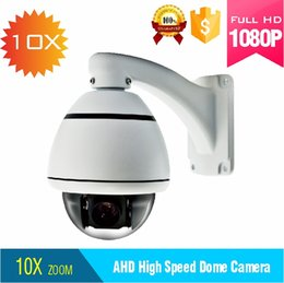 Toptan satış 1080 P 4 in 1 çıkış Otomatik Takip 10X Zoom / Pan / Tilt mini açık ptz dome kamera desteği IP66 Koaksiyel kablo kontrolü ile