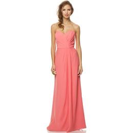 7ea6b00e9 Barato 2015 rosa larga vestidos de dama de honor gasa palabra de longitud  sin espalda vestido