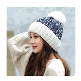 New autumn winter Korean version of women s velvet and thickening outdoor  cycling knitted hat warm gloves scarf hat 5bf1d666456