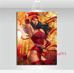 Elektra Marvel, Peças de Lona Decoração de Casa HD Impresso Arte Moderna Pintura em Tela (Sem Moldura / Emoldurado) em Promoção