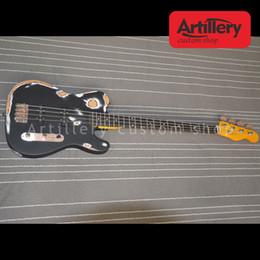 Basswood eBony fingerBoard online shopping - factory custom TELE electric bass guitar handmade do old strings bass guitar with ebony fingerboard musical instrument shop