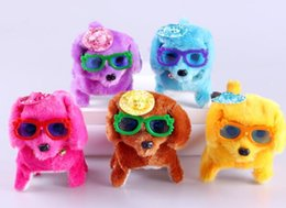 Dog Bands Canada - (Hot wholesale) The new plush toy electric dog will call the bright forward rewind dog electric toy