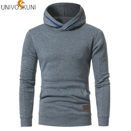 Wholesale slim fit sleeveless hoodie resale online - UNIVOS KUNI New Men s Sleeveless Hoodies Fashion Hoody Sweatshirt Fit Slim Casual Pocket Men Solid Leisure Hoodies Q563