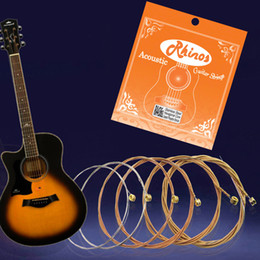 Wound string online shopping - Rhinos Acoustic Guitar String Phosphor Bronze Wound and Super Light Tension RA436SL