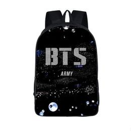 Cheap baCkpaCks for girls online shopping - Teenagers BTS Backpack for Hip Hop Girls Boys Schoolbag Male Suga Children bookbag EXO Daily Laptop Backpack Kpop cheap