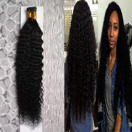 Extensiones de cabello de color Natural Deep Wave I Punta 100g 1g / strand Punta I cabello de fusión pre consolidado 10-26