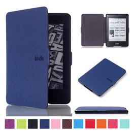 Твердый умный тонкий кожаный чехол для Amazon Kindle Paperwhite 1 2 3 6