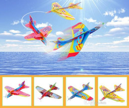 Childrens Party Bags Wholesale NZ - MixColor Super Wings Flying Glider Planes Aeroplane Party Bag Fillers Childrens Kids Toys Game Prizes Gift Model c006
