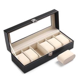 $enCountryForm.capitalKeyWord Australia - 6 Slots Wrist Watch Display Holder Jewelry Storage Organizer Glass Top Box