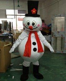 Venta al por mayor de 2018 venta directa de fábrica traje de la mascota del muñeco de nieve de Navidad populares disfraces de muñeco de nieve de Navidad de Halloween para fuentes del partido de Halloween