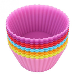 $enCountryForm.capitalKeyWord Australia - 12pcs pack 2.8inch Soft Silicone Cake Muffin Chocolate Cupcake Bakeware Baking Cup Mold Multicolor