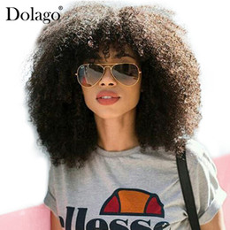 human hair wig long curly NZ - 250%Density Afro Kinky Curly Lace Front Human Hair Wigs For Women Malaysian Lace Frontal Wig Long Natural Black Remy Hair Dolago