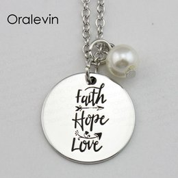 Hope Faith Love Pendant Australia - FAITH HOPE LOVE Inspirational Hand Stamped Engraved Accessories Custom Pendant Necklace Gift Fashion Jewelry, #LN1717