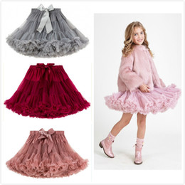 Wholesale puffed skirt for sale – plus size New INS Girls Pretty Yarn Polka TUTU Skirt Princess Party Skirt Puff Skirt Baby Infant Pettiskirt colors Toddler Skirts