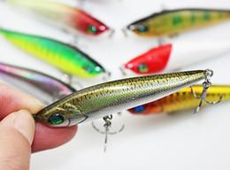 Discount catfish lures - Lipless Realistic Fish Bass Fishing lure 8cm 15g 6# BKB Hooks Minnow Wobbler Laser Pencil Swimbaits dray Catfish bait