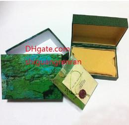 Envío gratis caja de reloj para hombre Original marca verde cajas papeles relojes reloj tarjeta para hombres hombres mujeres 116610 116660 116710 116613 116520 en venta
