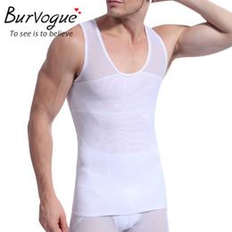 3cd715de8 Man Slimming Body NZ - Burvogue Men Waist Trainer Tank Top Undershirt Body  Shaper Singlet Breathable