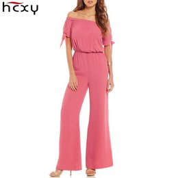 ca232b1ca6e Off Shoulder Chiffon Jumpsuit Women Elegant Slim Summer Jumpsuit Romper  Solid Color Work Office Business Long Pants Playsuit
