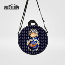 Wholesale Russia Matryona Matryoshka Doll Mini Messenger Bags For Women Cartoon Crossbody Schoolbags For Girls Fashion Flap Traveling