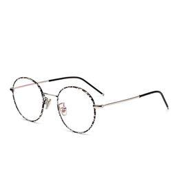 16ab66235db Women Vintage Glasses Frame Plain Mirror Big Round Metal Optical Frame For  Girl Eyeglass Clear Lens feminino de grau