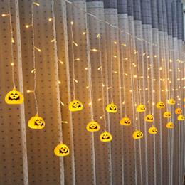 $enCountryForm.capitalKeyWord NZ - Holiday Lighting Idea Pumpkin Skeleton Spider 3.5M 96Led curtain light Halloween Party decoration Window Light Icicle String LED Lights