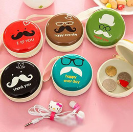 China Creative Iron Bearded Mini Portable Storage Bag Round Coin Purse Key coin Boxes Earphone Headphones data Cable Charger boxes Package cheap iron cable suppliers