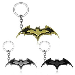 $enCountryForm.capitalKeyWord UK - Superhero Batman Keychain Men Trinket Super Hero Marvel Car Key Chain Chaveiro Key Ring Holder Jewelry Gift Souvenirs