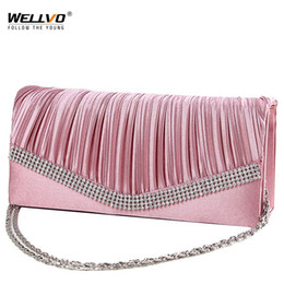 Ladies Evening Handbags Australia - Women Satin Clutch Bag Rhinestone Evening Purse Ladies Day Clutch Chain Handbag Bridal Wedding Party Bag Bolsa Mujer 2018 XA1080