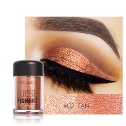 Metallic 3d online shopping - FOCALLURE Colors Glitter Eyeshadow Powder Waterproof Loose Shimmer Eyeshadow Pigment Powder D Nude Metallic Eyeshadow Powder