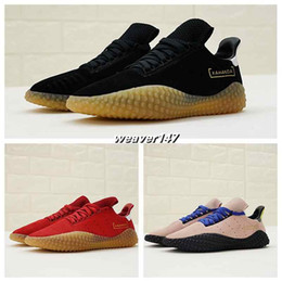 72a76d63b9de 2018 new Sale Kamanda Black Suede Black Yellow Raw rubber Casual Running  shoes for Good quality Men s Athletic shoes Jogging Size 40-45