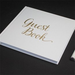 new white hardcover personalized guest book wedding notepad student notebooks simple durable easy to use high quality 6 5ym aa