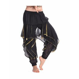 e8f563f156 2018 Hot Selling New Cheap Indian Tribal Belly Dance Harem Pants Bloomers  for Women Chiffon Belly Dancing Costume Pant 11 Colors