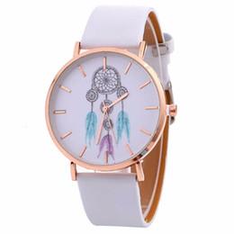 faux leather bracelets 2019 - Hot sale Casual Womens Bracelet Watch Lady Dreamcatcher Print Faux Leather Quartz Wristwatch Clock Women relojes mujer d