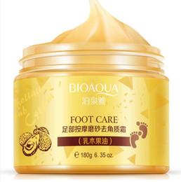 BIOAQUA Crème de massage pour le soin des pieds Peeling Exfoliant Blanchiment Hydratant pour les pieds Spa Beauté Supprimer la peau morte Crème pour les pieds en Solde
