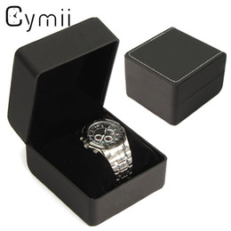$enCountryForm.capitalKeyWord Australia - Cymii 1Pcs Black Wrist Watch Display Watches Box Case Jewelry Storage Holder Organizer Wristwatch Holder Case Gifts