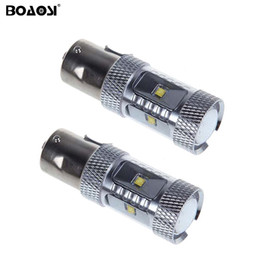 s25 led bulb NZ - 30W 1156 S25 P21W BA15S CREE Chip 6000K White LED Turn Signal Lights Backup BA15S Led Reverse Lamp 360 Degree Beam bulb