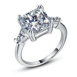 $enCountryForm.capitalKeyWord UK - Exquisite Diamonique Cz Wedding Jewelry 925 Sterling Silver Finger Ring For Bridal Engagement Gift Size 6-10 Drop Shipping