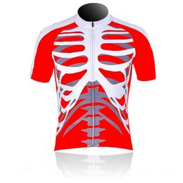 Cycling Clothing Funny UK - 2017 new funny Skeleton red cycling jersey  summer Short sleeve breathable 1d9bc11b8