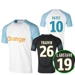 9ff6c7c39 Thai 18 19 Olympique De Marseille soccer jersey 2018 2019 Marseille maillot  de foot PAYET Camisetas PAYET GOMIS football shirt Custome Name