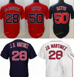 6cfea0464 ... real 2018 new baseball jerseys 28 jd martinez 50 mookie betts jersey red  blue color stitched