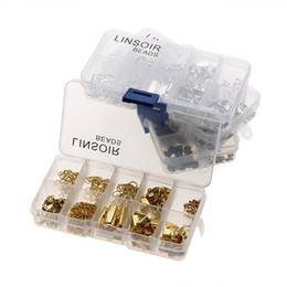 $enCountryForm.capitalKeyWord Australia - 1Box 4 Colors Crimp End Clasps Lobster Clasps Jump Rings Extender Chains Ending Droplets for Necklace Jewelry Making Materials