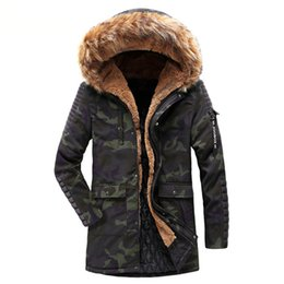 Chinese  MORUANCLE Men Long Winter Warm Jackets And Coats With Fur Hood Cotton Lined Thick Thermal Windbreaker Parkas For Man Outerwear manufacturers