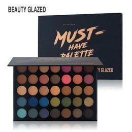 Silky eyeShadow online shopping - BEAUTY GLAZED Eye Shadow Professional Makeup Palette Matte Shimmer Glitter Color EyeShadow Easy to Wear Silky Pigments