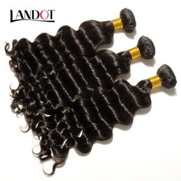 best loose deep wave hair NZ - Best 10A Virgin Brazilian Loose Deep Wave Curly Human Hair Weave 3 4 Bundles Peruvian Indian Malaysian Cuticle Aligned Remy Hair 2 Year Life