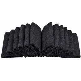 "Chinese  12PC lot 12""x12"" Absorbent Microfiber Towels Micro Fiber Cleaning Cloths Wiping Dust Rugs Manufacturer Black manufacturers"
