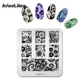 hot stamping tools NZ - New Arriving Series Polish Stamping Nail Art Manicure Template Nail Stamp Tools Flower Stamping Plates Hot Sale