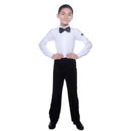 e898cd3c4d Ballroom Latin Dance Shirts Boys Long Sleeve Samba Rumba Modern Dance  Costumes For Kids Competition Performance Wear Top DN1014