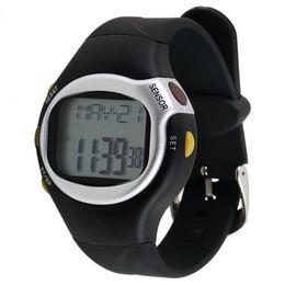 $enCountryForm.capitalKeyWord Australia - Multifunctional Digital Touch Sensor Pulse Heart Rate Monitor Outdoor Sports Reloj Hombre Men Women Watch Old For Familiar Gifts