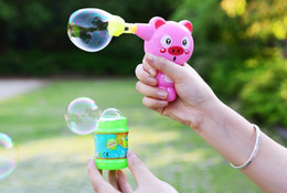 toy mini guns UK - New Popular Outdoor Kids Toys Soap Blow Animal Bubble Gun Child Cartoon Model Plastic Toys Baby Gift Colorful Water Gun