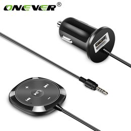 $enCountryForm.capitalKeyWord Australia - Onever Wireless Bluetooth Car Kit MP3 Player 3.5mm AUX Audio A2DP Music Receiver Adapter Support IOS Siri with 2.1A USB Output